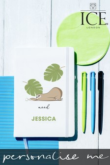 Personalised A5 Notebook with Set of 3 Pens by Ice London