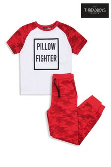 Threadboys Red Cotton Pyjama Set