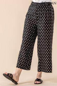 Roman Black Paisley Print Culotte Trousers