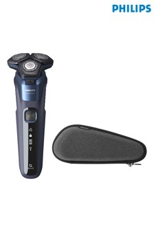 Philips Shaver Series 5000 Wet & Dry, Midnight Blue with Travel Case