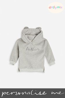 Personalised Embroidered Bunny Ear Hoodie by Dollymix