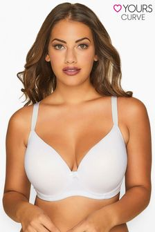 Yours White Moulded T-Shirt Bra