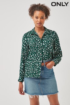 Only Black Animal Printed Relaxed Fit Shirt