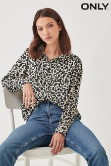 Only Green Animal Printed Relaxed Fit Shirt