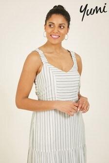 Yumi White Striped 'Cecily' Maxi Dress