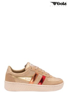 Gola Yellow Grandslam Shimmer Flare Ladies' Lace-Up Trainers