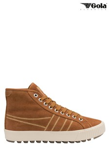 Gola Brown Nordic High Ladies' Suede Lace-Up Trainers