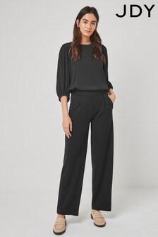 JDY Black Bootleg Soft Tailored Trouser