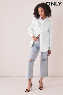 Only White Oversized Shirt