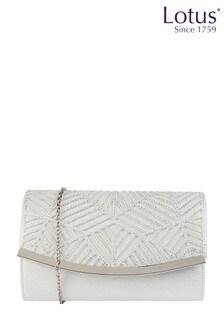 Lotus Footwear Blue Diamante Envelope Clutch Bag