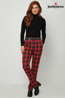 Joe Browns Red Cheeky Check Trousers