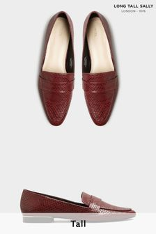 Long Tall Sally Red Metal Trim Loafer
