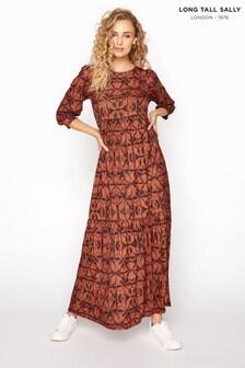 Long Tall Sally Orange Tie Dye Midaxi Dress