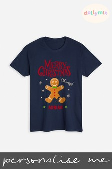 Personalised Men's Christmas T-Shirt by Dollymix
