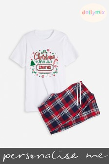 Personalised Mens Family Christmas PJ Set by Dollymix
