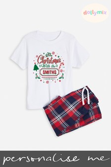Personalised Kids Family Christmas Kids PJ Set by Dollymix