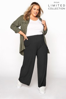 Yours Limited Black Rib Trouser