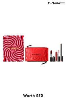 MAC Best-Kept Secret Lip Kit: Red / Hypnotizing Holiday (Worth £50)