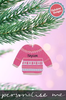 Personalised Christmas Jumper Tree Decoration by Oakdene Designs