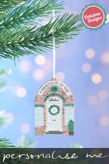 Personalised Front Door Christmas Tree Decoration by Oakdene Designs