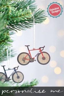 Personalised Road Bike Christmas Tree Decoration by Oakdene Designs