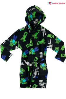 Character Black and Green Minecraft Dressing Gown