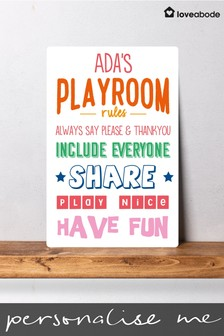 Personalised Kid's Playroom Sign by Loveabode