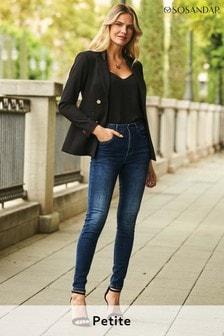 Sosandar Blue Petite Grace Organic Skinny Jeans