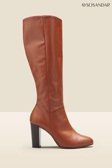 Sosandar Tan Knee High Boot