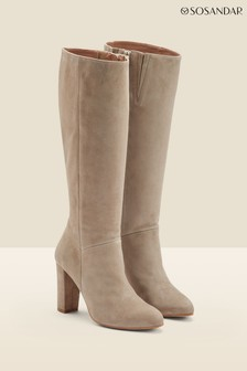 Sosandar Taupe Knee High Boot