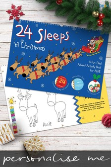 Personalised 24 Sleeps 'til Christmas Book by Signature Book Publishing