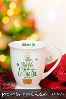 Personalised Christmas Marquee Mug by Signature Gifts