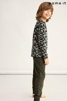 Name It Khaki Long Sleeve Pyjama Set