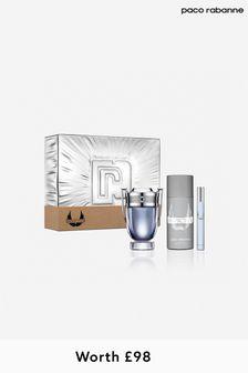 Paco Rabanne (Worth £98) Invictus Eau De Toilette 100 Ml + Deodorant 150 Ml + Mega Spritz 10 Ml Set