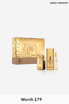 Paco Rabanne (Worth £79) 1 Million Eau De Toilette 50 Ml + Deodorant 150 Ml + Mega Spritz 10 Ml Set