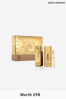 Paco Rabanne (Worth £98) 1 Million Eau De Toilette 100 Ml + Deodorant 150 Ml + Mega Spritz 10 Ml Set