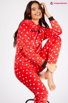 Character Shop Red Ladies Minnie Mouse Onesies