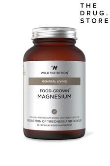Wild Nutrition Food Grown Magnesium Jar 60 Capsules