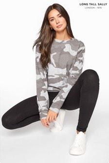 Long Tall Sally Grey Camo Sweatshirt