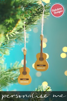 Personalised Guitar Christmas Tree Decoration by Oakdene Designs