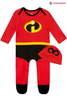 Character Red Incredibles Baby Disney Sleepsuit And Hat