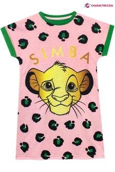 Character Pink Disney Lion King Simba Leopard Kids Nightdress