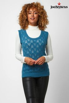 Joe Browns Blue Retro Knitted Vest Top