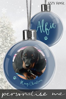 Personalised Christmas Bauble by Izzy Rose