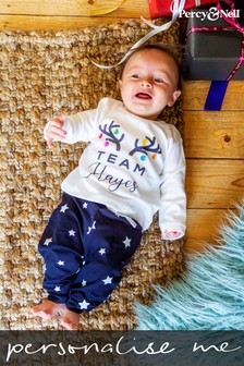 Personalised Baby Team Pyjamas by Percy and Nell