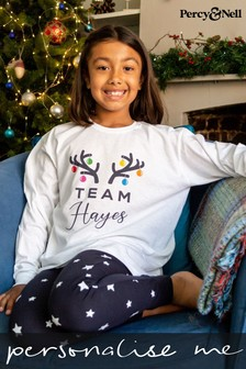Personalised Kid's Team Pyjamas by Percy and Nell