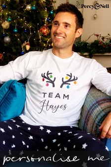 Personalised Men's Team Pyjamas by Percy and Nell