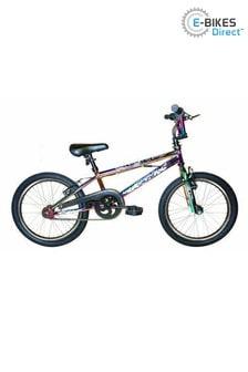 E-Bikes Direct Black XN Neo-9 20 Inch Freestyle BMX Bike, 360 Gyro
