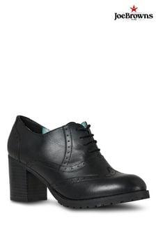 Joe Browns Black Portobello Rd Leather Brogues
