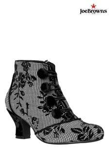 Joe Browns Black Goddess Velvet Trim Boots